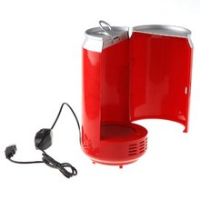 Mini USB PC Fridge Beverage Drink Cans Cooler & Warmer Red(China)