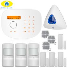 New LCD Wireless GSM SMS Home Security Burglar Fire Alarm System IOS/Android APP Control GSM PIR Motion Sensor Wireless Siren