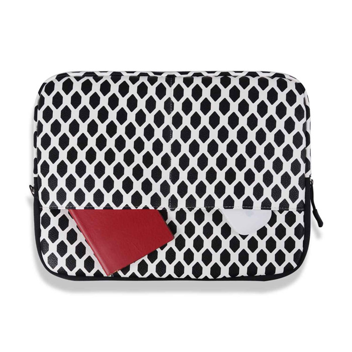 new Retro style black hexagon Laptop Sleeve Case for macbook air 13 pro retina 13 black honeycomb laptop Bag for 13.3inch tablet<br><br>Aliexpress