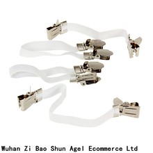 Brand New High Quality 4pcs/Set Nickel-plated Adjustable Bed Sheet Cord Hook Loop Straps Fastener/Holder/Strap/Suspender/Gripper