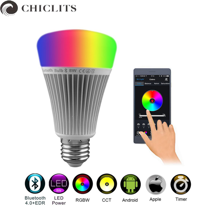 Mi Light Led Bulb Wireless Bluetooth Music Play Lamp 8W 110V 220V Dimmable RGB Led Bulb Lampada E27 Smart Ampoule Bulb for Phone<br>