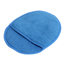 Paint Care Car Wax Sponge With Pocket Polish Pad Foam Glass Sponge Blue For Car Home Cleaning Soft Microfiber(China)