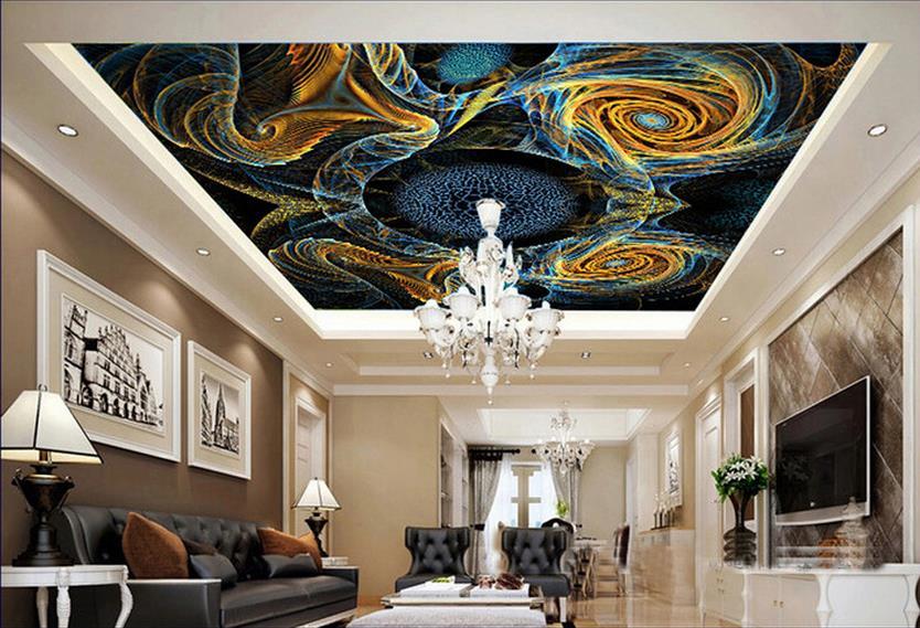 custom 3d mural ceiling wallpaper Colorful patterns 3d photo wallpaper ceiling wallpaper for walls roll 3d ceiling wallpaper<br><br>Aliexpress