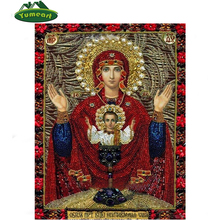 Diamond Painting Full Square Drill Embroidery Fashion Religion Home Decoration Handmade Painting Virgin Mary Jesus Christ Images(China)