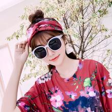 new summer street style scrawl Short creative printing geranium lovely character loose Tops In the Distribution hair band SXL