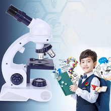 Simulation Kids Science Microscope Kit Toys High Definition Children Toy Home School Educational Toys Learning Machine For Child