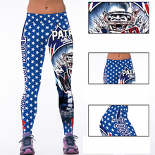 Woman Yoga Pants Fitness Fiber Sports Patriots Leggings Tights American football Trousers Exercise Training Clothing Sportswear(China)