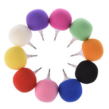 Mini Wired Speaker 3.5mm Jack Aux Audio Music Sponge Ball Speaker Candy Color 3.5mm for iPhone Samsung Smartphone Tablet MP3 MP4