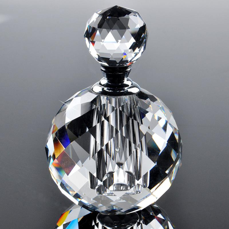 Clear 10ml Crystal Glass Perfume Bottle Empty Refillable Scent Bottle Gift Box for Wedding Gift Women Favor P011<br>
