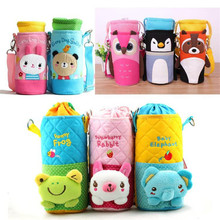 New Child Baby cartoon food feeding cup water bottle thermal bag keep warm thermol thermos thermo storage insulation bag cover