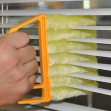Fashion 1pc Microfibre Venetian Blind Cleaning Brush Window Air Conditioner Duster Kitchen Dirt Cleaner Tool Cheap