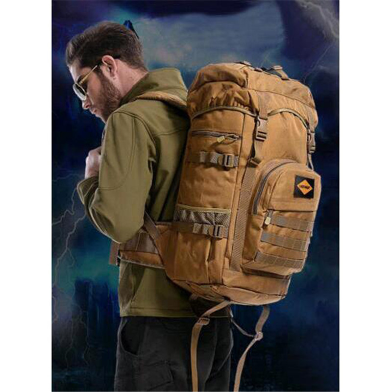 Mens bag nylon waterproof travel backpack 50 litres large capacity military camouflage high-end women 17-inch laptop bag<br>
