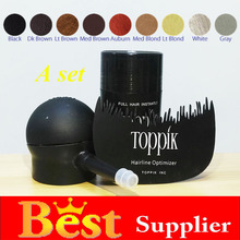 Toppik 12g+applicator+comb New cosmetic hair Thicker Instantly Hide Bald Spots Organic Keratin Hair Building fiber