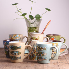 Coffee mugs milk cups Ceramic coffee mugs hand-painted Ceramic mugs Creative Ceramic mugs Manufacturer Wholesale cups(China)
