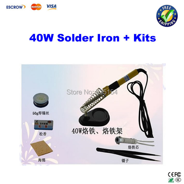 40W electric soldering iron, constant temperature soldering iron, household heating tool kits<br><br>Aliexpress