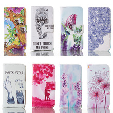 Cross Pattern Painted Leather Cases For Apple iPhone SE iphone55s iPhone 5 5S 5G Case Housing Card Wallet Phone Bags Sheath Skin