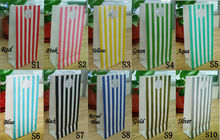 36 Pcs Stripes printing paper bags Gift Bag,Party,Lolly,Favour,Wedding,Packaging 10x20cm storage small handbag(China)