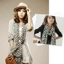 Fashion Multi-Usage Women Zebra Animal Prints Shawl Lady Long Zebra Large Stripe Scarf Four Seasons   -MX8