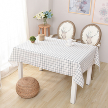 USPIRIT Simple Tablecloth Cotton Linen Nappe Large Lattice Table Cover Countryside Table Cloth Accept Custom For Restaurant