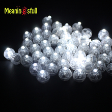 30pcs/Lot White Led Balloon Lights Round Ball Lamps For Paper Lantern Wedding Christmas Halloween New Year Party Decorations