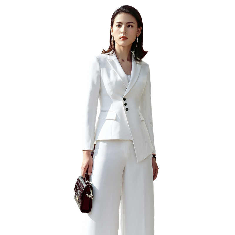 858ba45985a 2018 Suit Women New Fashion Business Interview Host Overalls Suit  Wide-legged Pants OL Manager