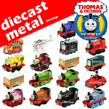 Diecast metal magnetic thomas and friends trains trackmaster thomas train set classic toys for children learning education 48+