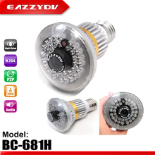 EAZZYDV BC-681H Home Bulb Lamp CCTV Security Camera DVR 36pcs IR LEDs Invisible Light Night Vision Support TF Card Built in MIC