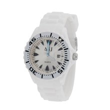 ASJ Soft Comfortable Touching Feeling Fashionable Precise Lightweight Round Unisex Plastic Wrist Band Quartz Chip Wrist Watch