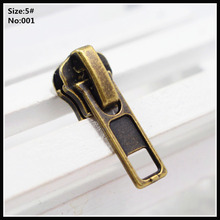 5# Wholesale 10pcs Zipper Sliders Metal Zipper Pulls zipper Head For Handbag/ Backpack/Clothing/Sewing Tailor Tools 001