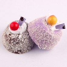 Cute Simulation Fruit Coconut Cake Magnetic Refrigerator Message Board