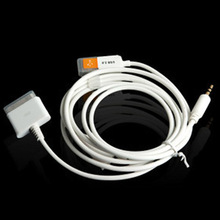 professional Converter connector 3.5mm Car Aux Audio Out USB line  Dock Cable for iPhone 3GS 4 iPod Touch iPad2 FC