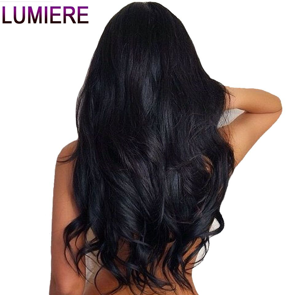 Lumiere Hair Lace Front Human Hair Wigs Brazilian Body Wave Lace Front Wig With Baby Hair Natural Hairline Remy Hair Average Cap(China)