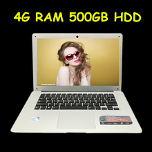 Free Shipping 14.1 inch ultrabook slim laptop computer In-tel J1900 2.0GHZ 4GB 500GB WIFI Windows7 windows 8.1 laptop notebook