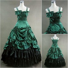 Abendkleider Unique Ball Gowns 2017 Halloween Women Party Gowns With Bows Satin Victorian Gothic Prom Dresses Vestido De Festa