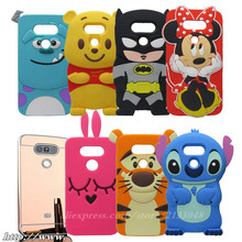 3D Ice Cream Minnie Stitch mirror case Casing Rubber Phone Case for LG G5 Silicone Gel Cover For LG G5 H830