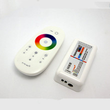 Popular  LED controller Touch pannel RGBW controller 12V /24V 24A Wireless 2.4G Remote