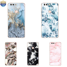 DIY For Huawei Honor 6 / 6X Phone Case For Huawei Honor 6 Plus Shell 0.6mm Soft TPU For Honor 8 Coque Marble Lines Painted