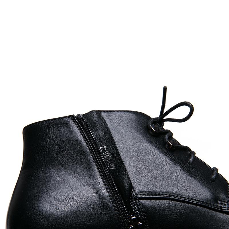 AIMEIGAO New Zipper Ankle Boots Women Soft PU Leather Low Heel Short Plush Boots Side Zipper Autumn Black Deep Blue Women Shoes