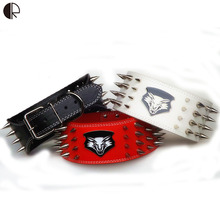 Cool Punk Style Spiked Leather Pet Large Dog Collar and harness Set Specialized Designer Pet Shop Dog Necklace Arnes HP697(China)