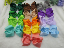 25pcs/lot 6 inch Big Ribbon Bows Girls' Hair Accessories Hair Bow without Clip Hot  Bows for Girl 25colors Free Shipping
