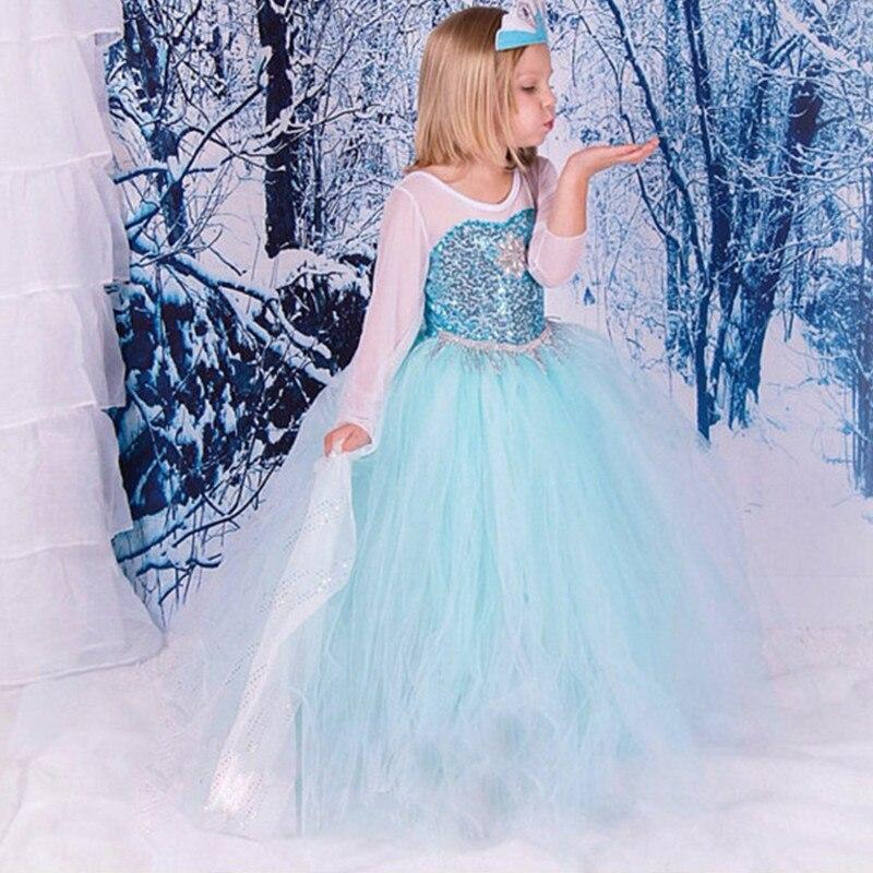 Christmas Frozene Dresses Elsa Costume Princess Sofia Birthday Party Supplies Dress Gifts Girl Snow Queen Roupas Infantis Menina<br>