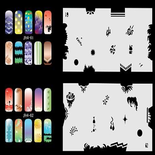 Hot Sales 20 Sheets/Lot Including 320 Different Nail Art  Designs For Airbrush Nail Art STENCIL Template Set No.4<br>