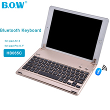 "B.O.W HB065C Bluetooth Wireless Tablet Keyboard for ipad Air 2 / for ipad Pro 9.7"" for ipad 2017 Keyboard Case for Tablet(China)"
