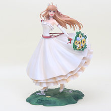 24CM Japan anime figure Spice And Wolf Holo 1/8 scale painted figure Wedding Dress Ver.10th anniversary PVC Action Figure Dolls(China)