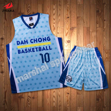custom practice basketball jerseys cheap reversible basketball uniforms Sublimation printed personalized color and pattern shirt