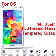0.26mm 2.5D 9H Tempered Temper Glass Phone Mobile Front Film Screen Ecran Pantalla Protector Guard For Samsung Galaxy S5 I9600