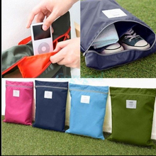Travel Clothing Shoes Bag Waterproof Package Storage Bag Portable Organizer Makeup Bathing Bags Free shipping P210