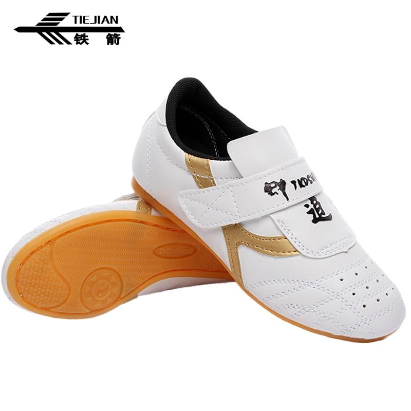 Men Taekwondo Shoes Rubber Soles Training Kickboxing Martial Arts Sneaker Sports