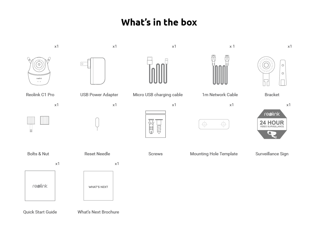What's in the Box_reolink c1 pro