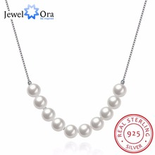 Solid 925 Sterling Silver Pendant Necklace With Simulated Pearl Fashion Party Necklaces & Pendants For Women (JewelOra NE101861)